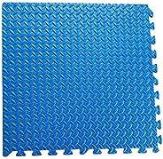 RBWTOYS Interlock EVA Foam Floor Mat 100cmx100cmx3cm Blue Color Plain Exercise Puzzle Mat for kids Activity. r