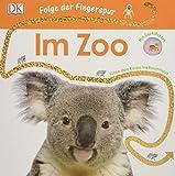 Folge der Fingerspur. Im Zoo: Führe den Koala ins Baumhaus. Mit Glitzerspur und Gucklöchern
