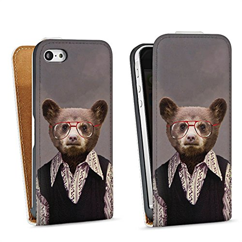 Apple iPhone 4 Housse Étui Silicone Coque Protection Benji Bear Ours Ours Sac Downflip blanc