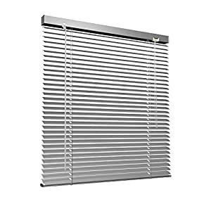 aluminium jalousie 90 x 130 cm silber victoria m jalousie ohne bohren inkl. Black Bedroom Furniture Sets. Home Design Ideas