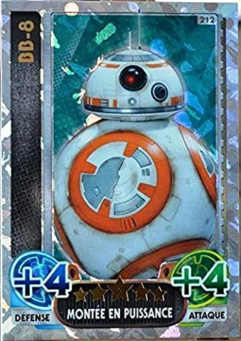 carte TOPPS STAR WARS 212/224 BB-8 Holographique SW Force Attax