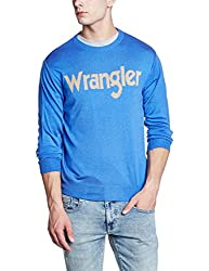 Wrangler Mens Synthetic Fit Sweater (8907649216330_W248975DHD74_S_Bright Blue)