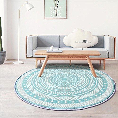 DNSJB Runder Teppich, Wohnzimmer, Esszimmer, Kaffee, Tisch, Computer-Stuhl-Matte (Size : Diameter 100cm) - Schlafzimmer-modern-kaffee-tisch