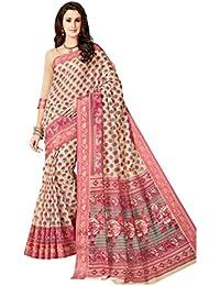 Aarti Apparels Women's Rich Designer Printed Gadwal Cotton Saree_CRYSTAL-6516