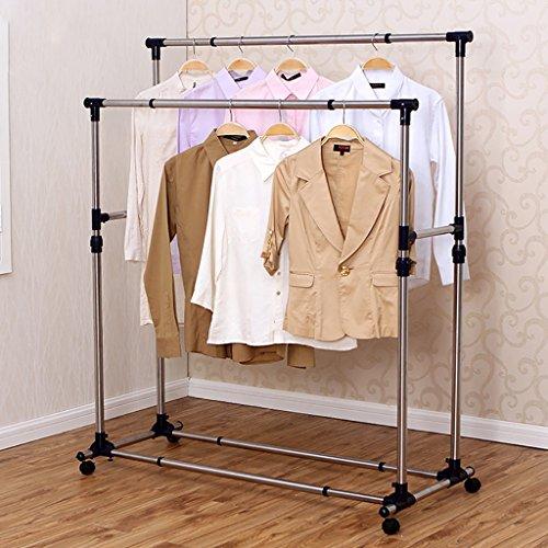 Wäscheständer, doppelpolige Wäscheständer, Edelstahl-Kleiderständer, Balkon-Trocken-Stepprahmen