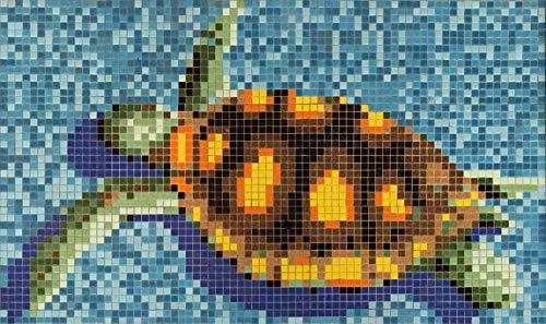 123mosaikfliesen Mosaikfliesen Fliesen Mosaik Küche Bad WC Wohnbereich Fliesenspiegel Glas Schildkröte glänzend Boden 4mm Neu #K672 -