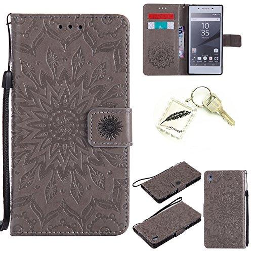 Preisvergleich Produktbild Silikonsoftshell TPU Hülle für Sony Xperia Z5 (5,2 Zoll (13,2 cm) Tasche Schutz Hülle Case Cover Etui Strass Schutz schutzhülle Bumper Schale Silicone case+Exquisite key chain X1) #KD (7)