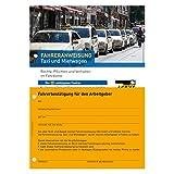 10er Pack Fahreranweisungen Taxi und Mietwagen Unfallverhütung Anweisung Verhaltensregeln Personenverkehr Arbeitsschutz Arbeitssicherheit