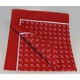 Halstuch / Vierecktuch Anker 54x54 cm rot
