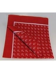 Halstuch Anker rot 70x70 cm Spitzenqualität von Modas mit Mengenrabatt