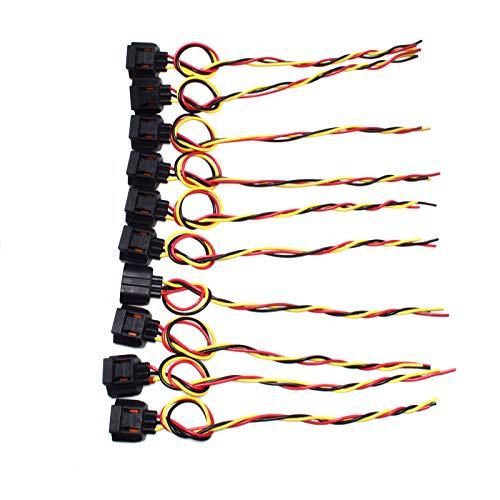 eGang Auto Lot de 10 harnais électrique WPT-118 U2Z14S411TA T5751 WPT118 pour 1996 1997 1998 1999 2000 2001 2002 2003 2004 2005 2006 2007 2008 2009 Fords LINCOLNS MERCUSRYS