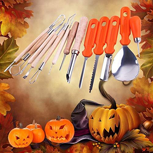 Supertop 5 STÜCKE / 13 STÜCKE Halloween Kürbis Carving Kit Cutter Melone Obst Küche Cutter Kinder Kürbis Lampe Dekoration Werkzeug Carving Cutter Requisiten