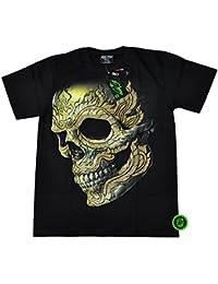 T-Shirt clouté Rock Chang Heavy Metal Biker Tattoo Rocker Gothic Survivors (4031)