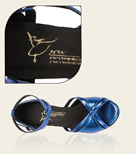 Meijili , Semelle compensée femme Bleu