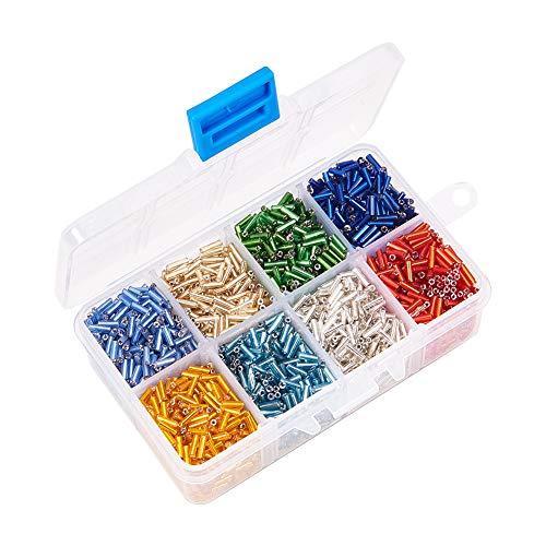 Wind Ziel 6mm Multi Farbe Stiftperlen, gefüttert Glas Seed Beads Platz für DIY Schmuck Crafts Ergebnisse über 3500Stück (Projekte Bead Seed)
