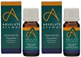 (2 Pack) - Absolute Aromas - Geranium Egyptian Oil   10ml   2 PACK BUNDLE