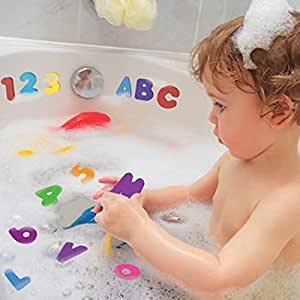 1 Set of 36pcs Numbers and Letters Puzzle Bath Toys