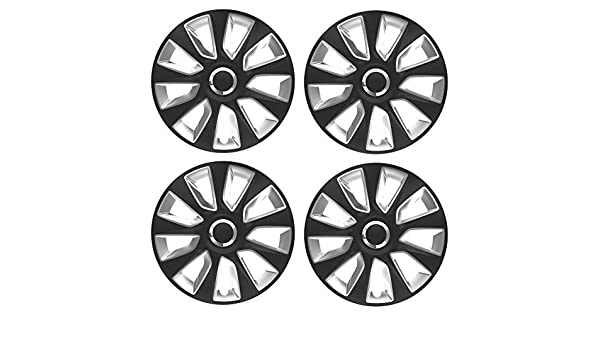 UKB4C 4 x Black Wheel Trims Hub Caps 14 Covers fit Nissan Micra Almera Note Pixo