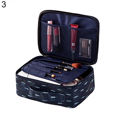 Aufbewahrungstasche für Make-up-Pinsel, mit Reißverschluss, Flamingo-Druck, für kleine Finger, tragbares Geschenk 3# (Jungen-mittagessen-tasche Schultergurt)