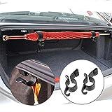 Walkretynbe Innendekoration, 2 Stück/Set Regenschirmhalter Kofferraum-Organizer Auto Halterung Handtuchhaken, schwarz