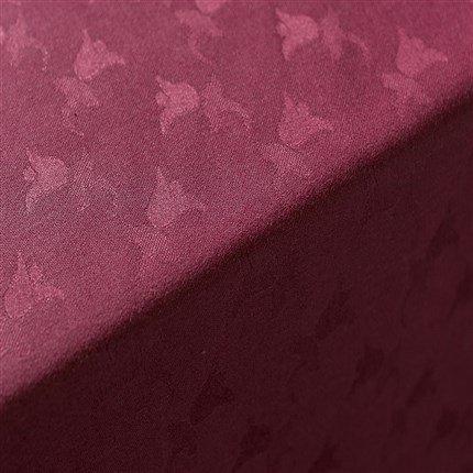 Adonie - Nappe modèle TULIPAN, 50% coton/50% polyester, lavable en machine à laver (140*250) Bordeaux