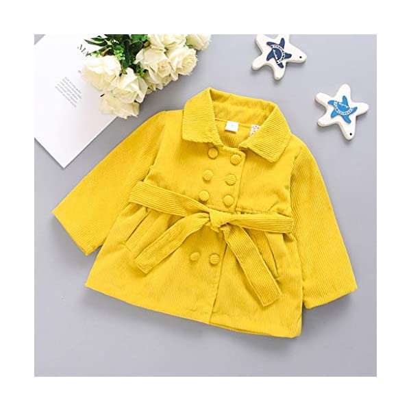 Abrigo de bebé | Chaqueta Abrigada de Manga Larga de Invierno para bebés y niñas pequeñas Abrigos Gruesos de Abrigo 0-24… 2