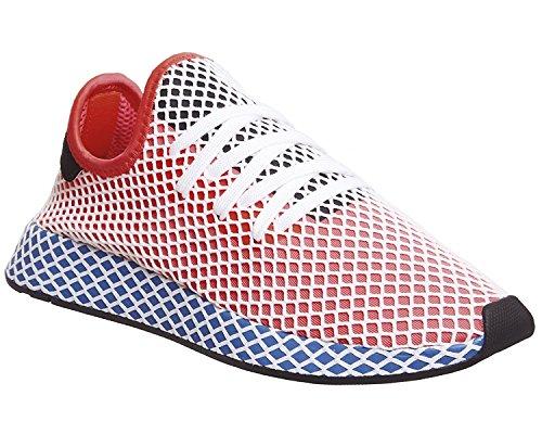 Adidas Deerupt Runner, Zapatillas de Gimnasia para Hombre, Rojo (Solar Red/Solar Red/Bluebird), 44 2/3 EU adidas
