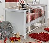 Wimex Babyzimmer Set Jalta, bestehend aus Babybett und Wickelkommode (Ohne Unterschrank), Liegefläche 70x140 cm, Weiß/ Absetzung Brombeer