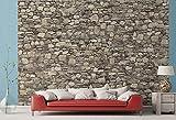 Fototapete Naturstein-Wand aus Granit - Größe 366 x 254 cm, 8-teilig
