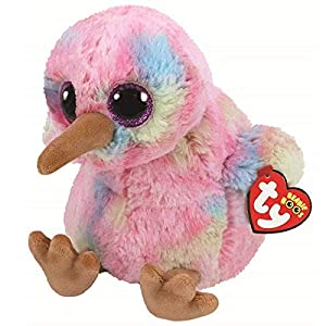 Ty Beanie Buddy Kiwi Animales de Juguete Felpa Azul, Rosa, Amarillo - Juguetes de Peluche (Animales de Juguete, Azul, Rosa, Amarillo, Felpa, Pájaro, Niño/niña)