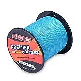 Pro Beros Angelschnur 300m, haltbares PE, geflochtene Angelschnur mit 4Strängen, Angeln-Zubehör, 5 Farben, Nummer 0.4–8.0.6–36,3kg, 13verschiedene Durchmesser, geeignet für See, Fluss, Meer, blau, 0.8#/0.14mm/10lb/4.5kg