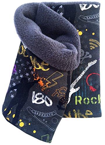 Wollhuhn Warmes Halstuch, Zaubertuch, Schlupfschal, Schal Cool Stuff dunkelgrau für Jungen und Mädchen, Innenseite aus Fleece, 20160603