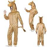 Giraffenkostüm Overall Giraffe unisex Tierkostüm Jumpsuit Ganzkörperkostüm Karneval Faschingskostüm Tiere Giraffen Ganzkörperanzug Erwachsene