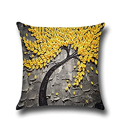 Samidy Painting Trees Cushion Cover, Throw Pillowcase Cushion Cover for Living Room, Dining Room and Kitchen, 17.3 x 17.3-Inch (E) - inexpensive UK light store.