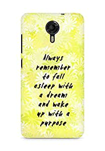 AMEZ always remember to fall asleep with a dream Back Cover For Micromax Canvas Xpress 2 E313