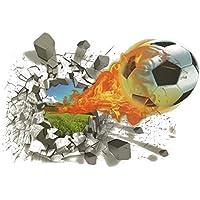 Adhesivos 3D Impermeable Decorativos para Pared con Diseño (Creativo de  Fútbol Pelota) f1bddcbe259e9