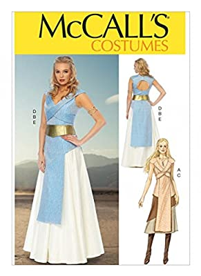 McCalls Sewing Pattern 6941 Game Of Thrones Style Dress Sizes: 4-6-8-10-12