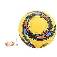 Sporttraining Voetbal PVC-voetbal voor teamtraining Wedstrijdmachine-gestikt accessoire binnen of buiten(Geel)
