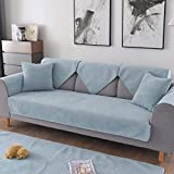 Protector para Sofás Acolchado,manta cubre sofa,Velvet waterproof pet Sofa Cover,4 seasons universal urine-proof couch cover,anti-fouling wear-resistant living room sofa cushion-Light_blue_90*180cm