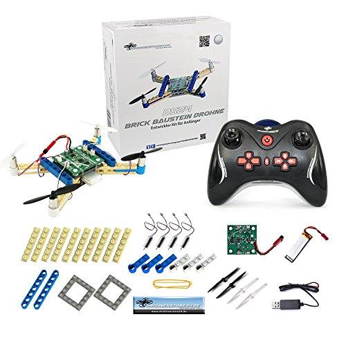 Baustein Quadrocopter - Brick Drohne zum Selbstbauen - Bausatz für Groß und Klein - Anfänger Copter