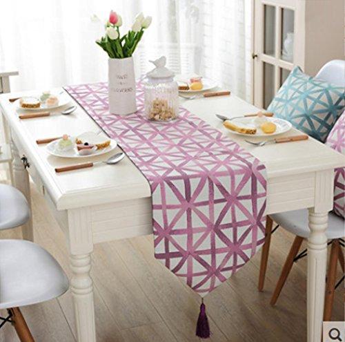 Gestreifte Polster (WYFC Tischläufer / Tischdecke Couchtisch Tuch. minimalistisch modernen europäischen Stil Couchtisch Flagge gestreifte Polster kann eine Vielzahl von Größen wählen . d . 32*160cm)
