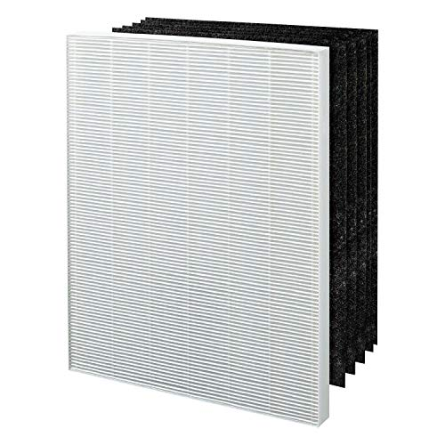 GL Gear Winix 115115 Ersatz True Hepa Filter + 5 Carbon Vorfilter (1 Paar frei Handschuhe), Kompatibel mit WAC5300, WAC5500, WAC6300, 5000, 5000b, 5300, 5500 Luftreiniger -
