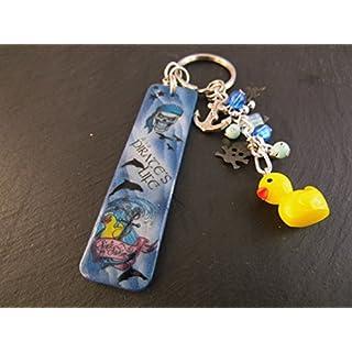 Schlüsselanhänger Taschenbaumler PIRAT Nailart Airbrush