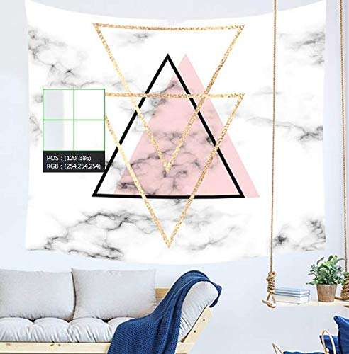 HJLHFD Tapisserie Marmor Muster Tapisserie Rosa Und Goldene Wandbehang Wandbild Wohnheim Room Decor Decke Strandtuch Schrankbett 150 * 200 cm