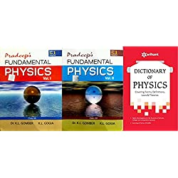 COMBO SET PRADEEP FUNDAMENTAL PHYSICS VOL I/II CLASS 12 WITH DICTIONARY OF PHYSICS SET OF 3 BOOKS EXAM 2018-19