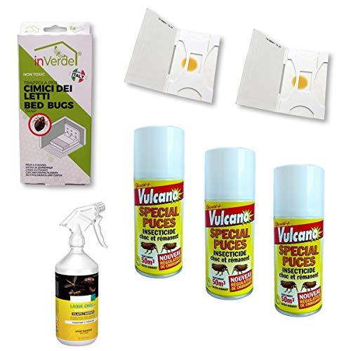 Nuisipro - Kit insetticida completo, trattamento anti-cimici da letto, azione shock e preventiva