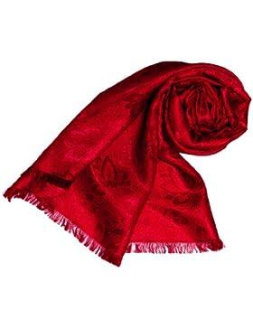 LORENZO CANA High End Luxus Schal Luxustuch elegant gewebt in Damast Webung florales Paisley Muster aus Viskose...