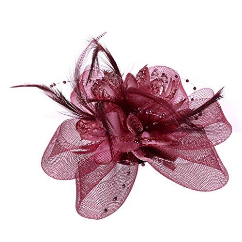Lisanl Damen Haarschmuck, Blume, Federn, Perlen, Netz, Haarspangen (Machen Sie Es Selbst Baby Halloween Kostüme)
