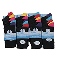 Louise23 Boys School Socks Cotton Blend Coloured Heel Velt Toe Design Back to School Uniform All Sizes
