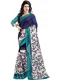 Reya Striped Bhagalpuri womens saree with blouse